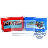 10 x Famicom Cart Protectors Box for Nintendo Game Cartridge 0.4mm Display Case