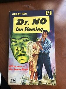 James Bond DR NO by Ian Fleming, 1960, 1st Printing, Great Pan, Like New