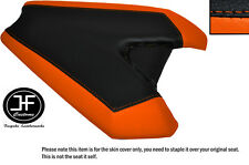 BRIGHT ORANGE & BLACK CUSTOM FITS KAWASAKI Z1000 14-16 REAR LEATHER SEAT COVER