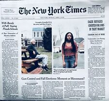 APRIL 2, 2018 NY TIMES TRUMP• DACA•ARIKE OGUNBOWALE NOTRE DAME  *MINT & UNREAD*