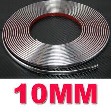 10 mm (1 Cm) X 5 M Tira Estilo de moldeo Decoración del Coche Cromo Adhesivo de ajuste