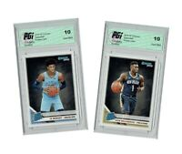 Zion Williamson & Ja Morant 2019 Donruss #201 & 202, TWO Rookie Card Lot PGI 10