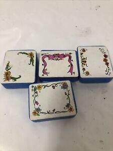Vintage Ink Stamps Floral Set Of 4