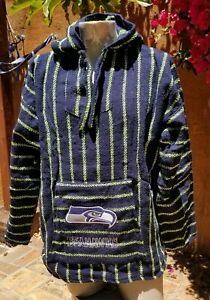 Mexican NFL Seattle SEAHAWKS Baja hoodie pullover sweater X Large