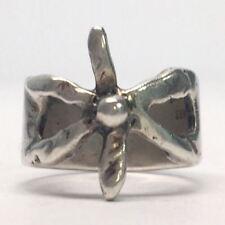 Egon Bernhardt Hammeken Denmark Sterling Silver Bow Ring Size 3 3/4