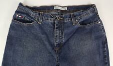 TOMMY HILFIGER Isabel Womens Size 12 Cotton Blend Straight Leg Dark Wash Jeans
