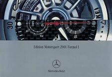 Prospectus Mercedes Edition Sport automobile Formule 1 2001 Chronographe Horloge Numérique Cap