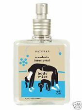 "Blue Q Body Mist ""Me-Om"" Natural Mandarin Lotus Petal with box yoga cat cute!"