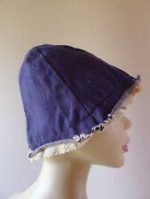 Vintage retro unused 60s reversible denim cotton bucket Hat
