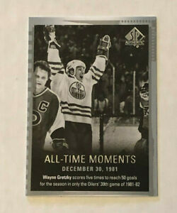 SP Authentic 2015-16 - Wayne Gretzky All-Time Moments Dec 30, 1981 card!!!
