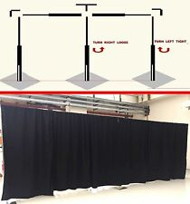 QUICK BACKDROP KIT 10 FT TALL x 10 FT - 50 FT WIDE PIPE WITH DRAPE(BLACK DRAPES)