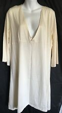 NWT ANTONIA LIMA Beige Soft Lightweight Dress Or Coverup 100% Cotton -Sz. Large
