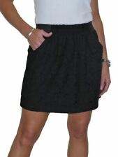 CLEARANCE NEW Ladies Crochet Lace All Over Party Mini Skirt Black 6-14