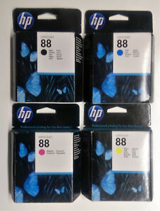 4 x Original HP 88 schwarz cyan gelb magenta Officejet PRO L 7555 7550 ---- 2016