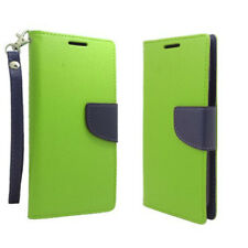 For HTC ONE M8 / ONE 2 - GREEN PU Leather ID Card Wallet Money Holder Pouch Case