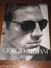 *AO51= GIORGIO ARMANI OCCHIALI =PUBBLICITA'=ADVERTISING=WERBUNG=COUPURE=