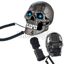 Novelty Horrible Skull Head Home LED Eyes Flashing Phone Corded Telephone