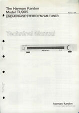 Rare Factory Harman Kardon TU905 AM/FM Stereo Tuner Technical/Service Manual