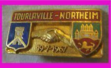 BG542 INSIGNE JUMELAGE TOURNEVILLE NORTHEIM 1967