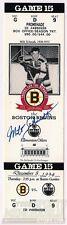 Milt Schmidt Boston Bruins Signed Boston Garden Commemorative Game Ticket COA