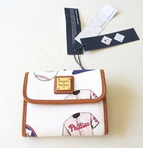 NEW DOONEY & BOURKE Philadelphia Phillies Flap Bifold Wallet Clutch Bag NWT $118