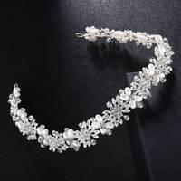 Bride Headbands Wedding Bridal Hair Vine Headpiece Silver Crystal Hairband