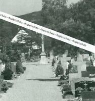 Neuenburg am Rhein - Friedhof mir Kreuz -  um 1975/80               X 9-12