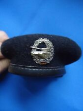 GERMANY MILITARY PANZER TANK MINIATURE BERET & BADGE LOOK SCANS +- 120mm