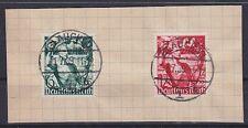 DR Mi Nr. 660 - 661, VST rund gest. Glauchau 01.07.1939 auf Briefstück, used