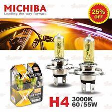 H4 472 MICHIBA HeadLight Duo Halogen Light Bulbs 55W/60W 3000K Super GOLD YELLOW