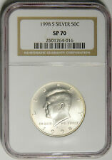 1998 S Silver .50c Kennedy Half Burnished satin NGC SP 70