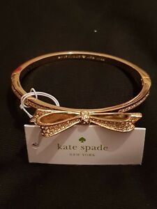 KATE SPADE  NY - Love Notes Bow Bangle - Gold tone with Pave Diamante - BNWT