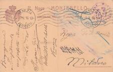 A8916) WW1 MARINA, FRANCHIGIA DELLA REGIA NAVE MONTEBELLO.