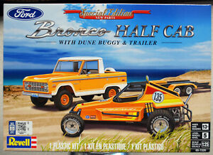 Revell 7228 1966 - 77 Ford Bronco Half Cab & Dune Buggy & Trailer 1:25