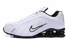 huge selection of 700bc 509ec MENS WHITE   BLACK NIKE SHOX R4 ATHLETIC SHOES SIZES ...