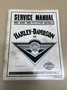 Harley Davidson 1991 1992 FXR Service Manual FLT FXR  : 99483-92   Nice OEM!!