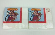 Vintage Nintendo Mario Princess Peach C.A. Reed Party Napkins 16 ct 2 Packs NEW