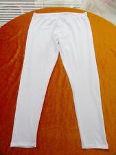 Weiße Leggings 44 46 48 L-XL (XXL)Dehnbund Baumwolle Elast. knöchellang +trendig