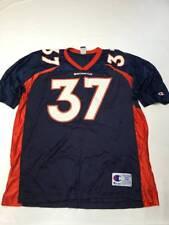 Mens CHAMPION Blue Vintage Denver Broncos #37 Nelson Jersey Sz 2XL(52)