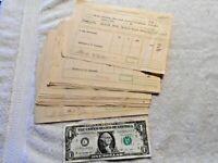 70 - 1945 Pere Marquette Railroad Howell, Michigan Cashier's Memorandum Bills NR