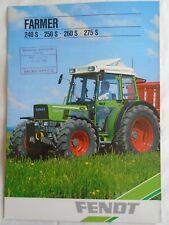 Fendt Farmer 240 S 250 S 260 S 275 S Tractor brochure c1990 English text