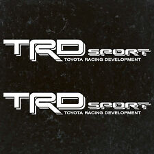 "TOYOTA TACOMA TRD SPORT DECALS STICKERS (2) 18""X3"" DECALS WHITE"