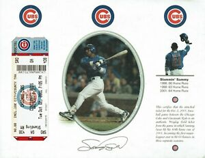 2001 Sammy Sosa 3 years 60th HR Home Run Rare Full Ticket 10/2/01 Chicago Cubs