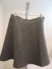Ann Taylor Polyester Blend Gray Above Knee A-Line Skirt - Size - Medium