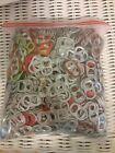 Multi color Beer Can Pull Tab Soda Pop Tops Clean No Rings crafts or collectors