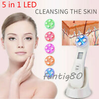 5IN1 Mesotherapy Electroporation RF Radio Frequency Face LED Photon Beauty Care