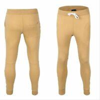UK Mens Slim Fit Tracksuit Bottoms Skinny Jogging Joggers Sweat Pants Trousers