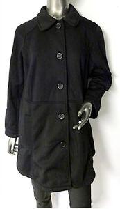 NEW YOURS BLACK Long warm jacket/short coat in Sizes UK 16 & 18