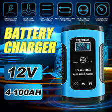 LCD Pulse Repair Battery Charger for Car Motorcycle AGM GEL WET Lead Acid 12V 6A