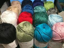 NEW STOCK & SHADES! Sirdar Cotton DK Knitting / Crochet Yarn 100g *21 SHADES*
